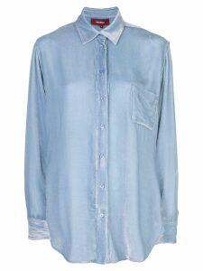 Sies Marjan Sander fluid corduroy shirt - Blue