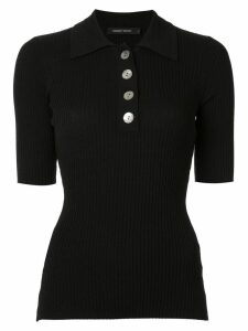 Nobody Denim Chelsea ribbed polo top - Black