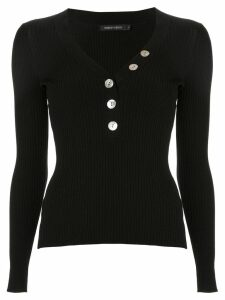 Nobody Denim Nolita buttoned jumper - Black