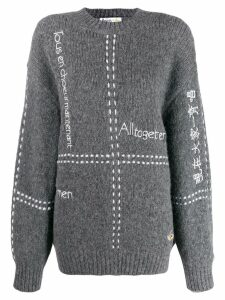 Stella McCartney All Together Now embroidered jumper - Grey