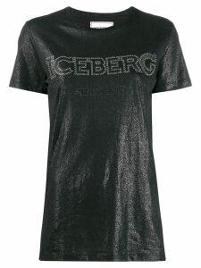 Iceberg studded logo sheen T-shirt - Black