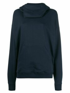 JW Anderson fold-over neck hoodie - Blue