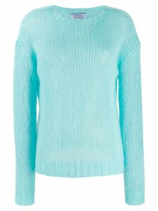 Prada open stitch jumper - Blue