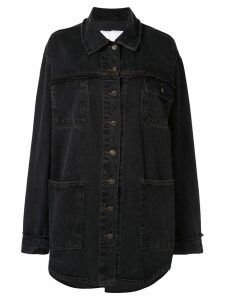 Ingorokva greena oversized denim-shirt - Black