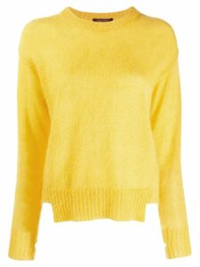 Luisa Cerano cut hem fuzzy jumper - Yellow