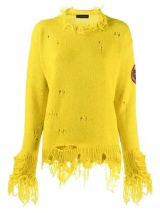 Etro distressed jumper - Yellow