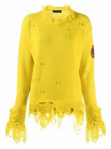 Etro distressed jumper - Yellow