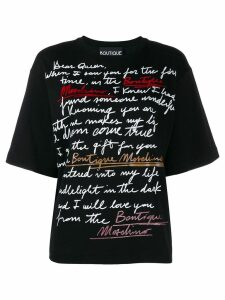 Boutique Moschino Love Letter print T-shirt - Black