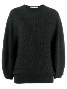 Agnona ribbed knit sweater - Black