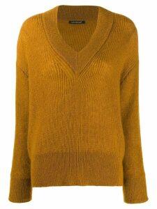 Luisa Cerano ribbed knit V-neck sweater - NEUTRALS
