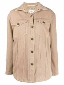 Nanushka Nusta shearling lined denim jacket - NEUTRALS