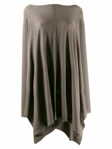 Rick Owens draped knitted top - Grey