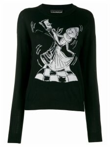 Boutique Moschino Chess Dancers extrafine wool sweater - Black