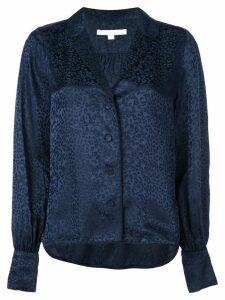 Jonathan Simkhai leopard print shirt - Blue