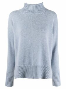 Peserico turtleneck fine knit sweater - Blue
