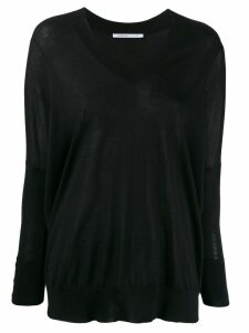 Agnona fine knit sweater - Black