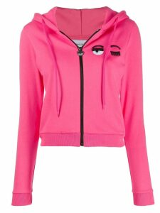 Chiara Ferragni cropped sweatshirt jacket - PINK