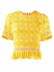 Ermanno Scervino fringed crop top - Yellow