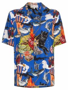 Esteban Cortazar sea-life print shirt - Multicoloured