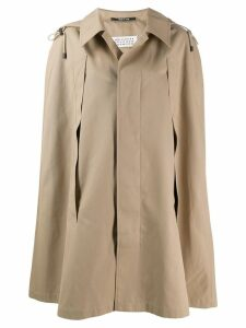 Maison Margiela cape style trench coat - Neutrals