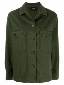 Aspesi flap pocket shirt jacket - Green