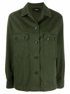Aspesi flap pocket shirt jacket - Green