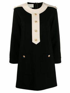 Gucci button detailed shift dress - Black