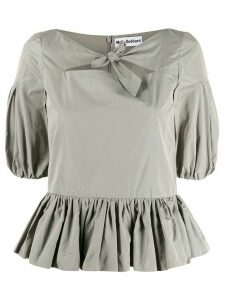 Molly Goddard knot detail blouse - Grey