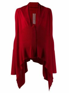 Rick Owens draped style cardigan - Red