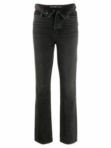 T By Alexander Wang cult flip straight-leg jeans - Grey