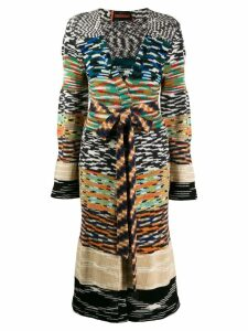 Missoni patterned knit longline cardigan - NEUTRALS