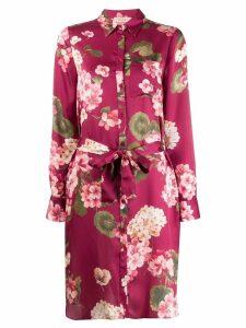 Twin-Set floral print shirt dress - Red