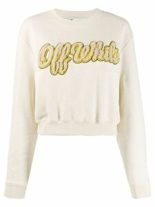 Off-White logo applique sweatshirt - Neutrals