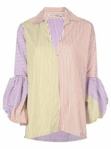Silvia Tcherassi mixed stripe puff sleeve shirt - Multicolour