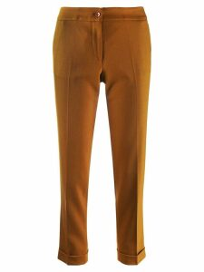 Etro cropped slim-fit trousers - Brown