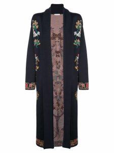 Oscar de la Renta floral pattern cardigan - NEUTRALS