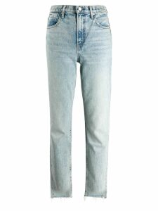 Alexander Wang stonewashed straight-leg jeans - Blue