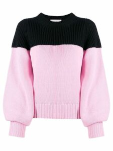 ALEXANDER MCQUEEN cashmere two-tone jumper - Pink
