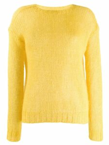 Prada open stitch jumper - Yellow