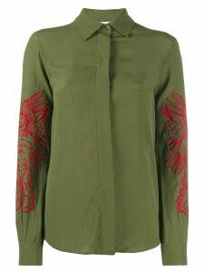 Moschino Mythological Creature embroidery shirt - Green