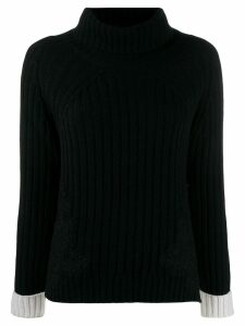 Ermanno Ermanno ribbed knit rollneck sweater - Black