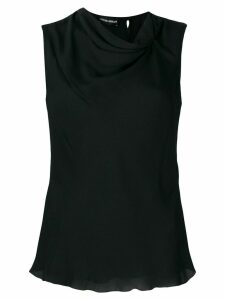 Emporio Armani gathered tank top - Black