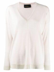 Les Copains contrast trim knit sweater - Pink