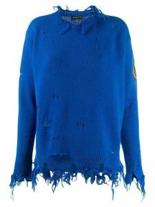 Etro distressed sweatshirt - Blue