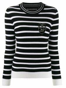 Ermanno Scervino Glass-embellished wool sweater - Black