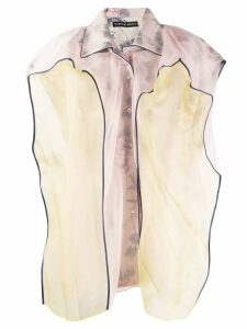 Y/Project contrast sleeveless blouse - PINK