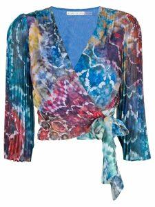 Alice+Olivia Bray tie dye blouse - Blue