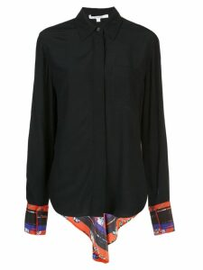 Derek Lam 10 Crosby Long Sleeve Button-Down Shirt with Contrast Back -