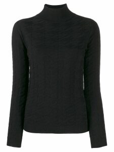 Blumarine turtleneck jumper - Black