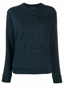 Emporio Armani embroidered bear sweatshirt - Blue
